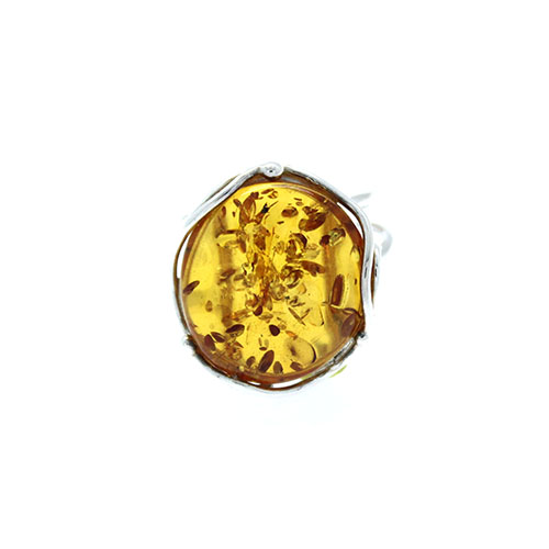 Natural Baltic Amber Adjustable Ring