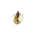 Natural Baltic Amber Multi Color Ring