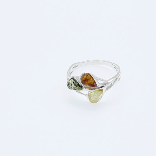 Baltic Amber Multi Color Ring