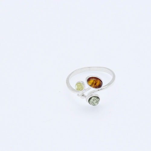 Multi color amber ring.