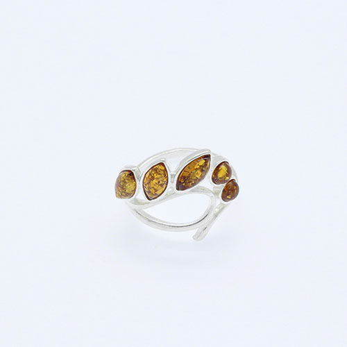 Cognac Baltic Amber Ring