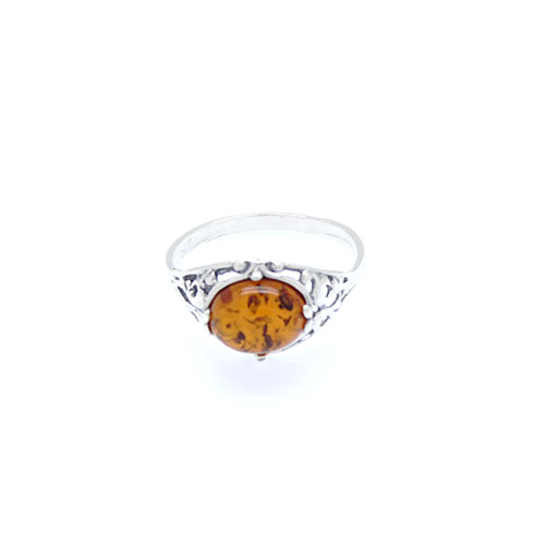 Genuine Baltic Amber Cognac Ring