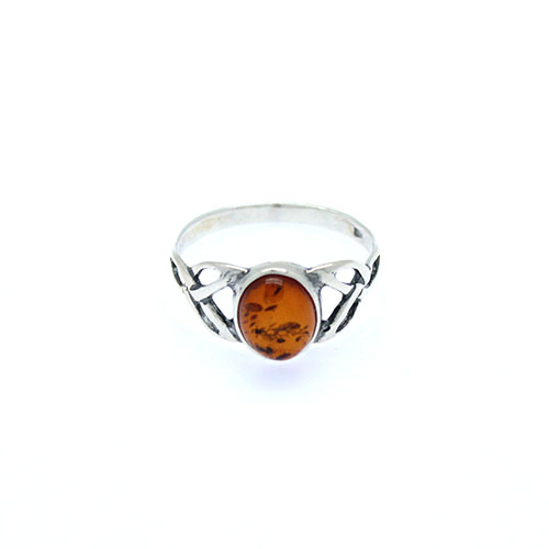 Celtic Baltic Amber Ring