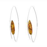 Cognac Color Natural Baltic Amber Earrings