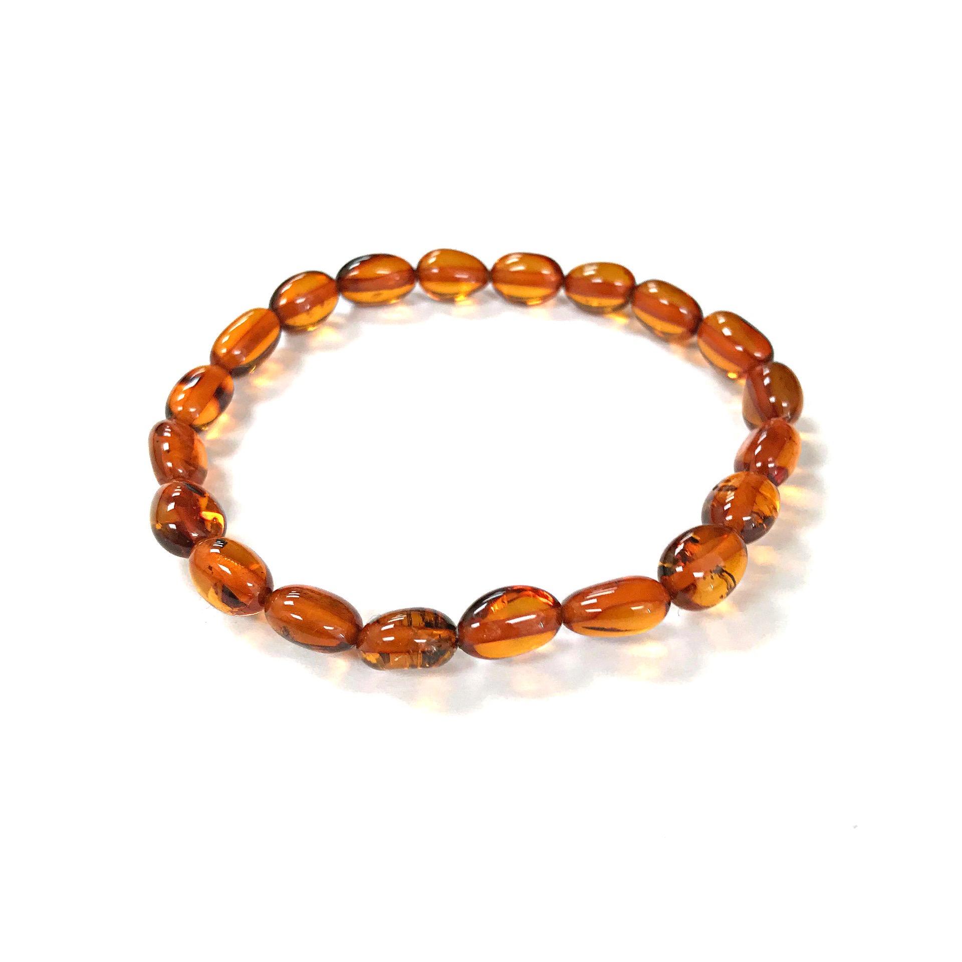 Natural Baltic amber stretch bracelet. Amberman. www.amberman.com