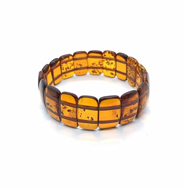 Baltic Amber stretch bracelet, www.amberman.com