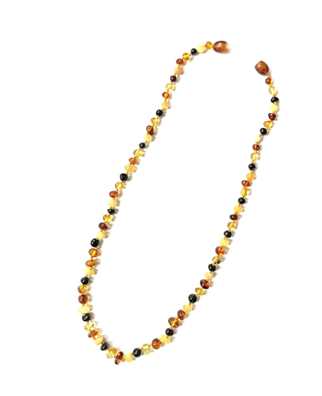 Natural Baltic Amber multi color Necklace. Amberman.