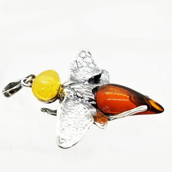 Cognac /Butterscotch Amber Butterfly/Dragonfly Pendant