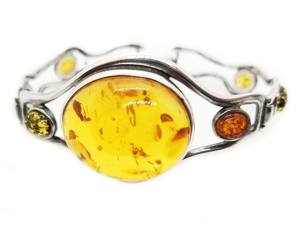 Multicolor Cuff Bracelet with Lobster Clasp