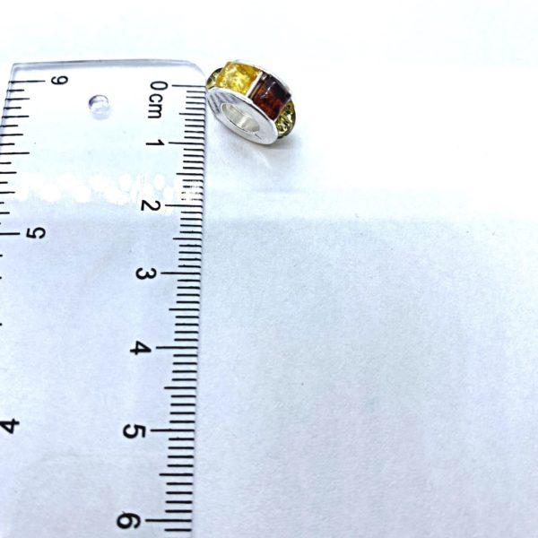 Multi color Amber Charm Bead/European Bead for Bracelet