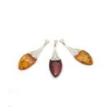 Cherry Amber Art Deco Pendant