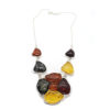 Multi Color Amber Flower Necklace