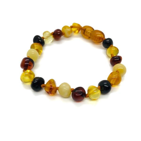 Multi Color Amber Baby Bracelet