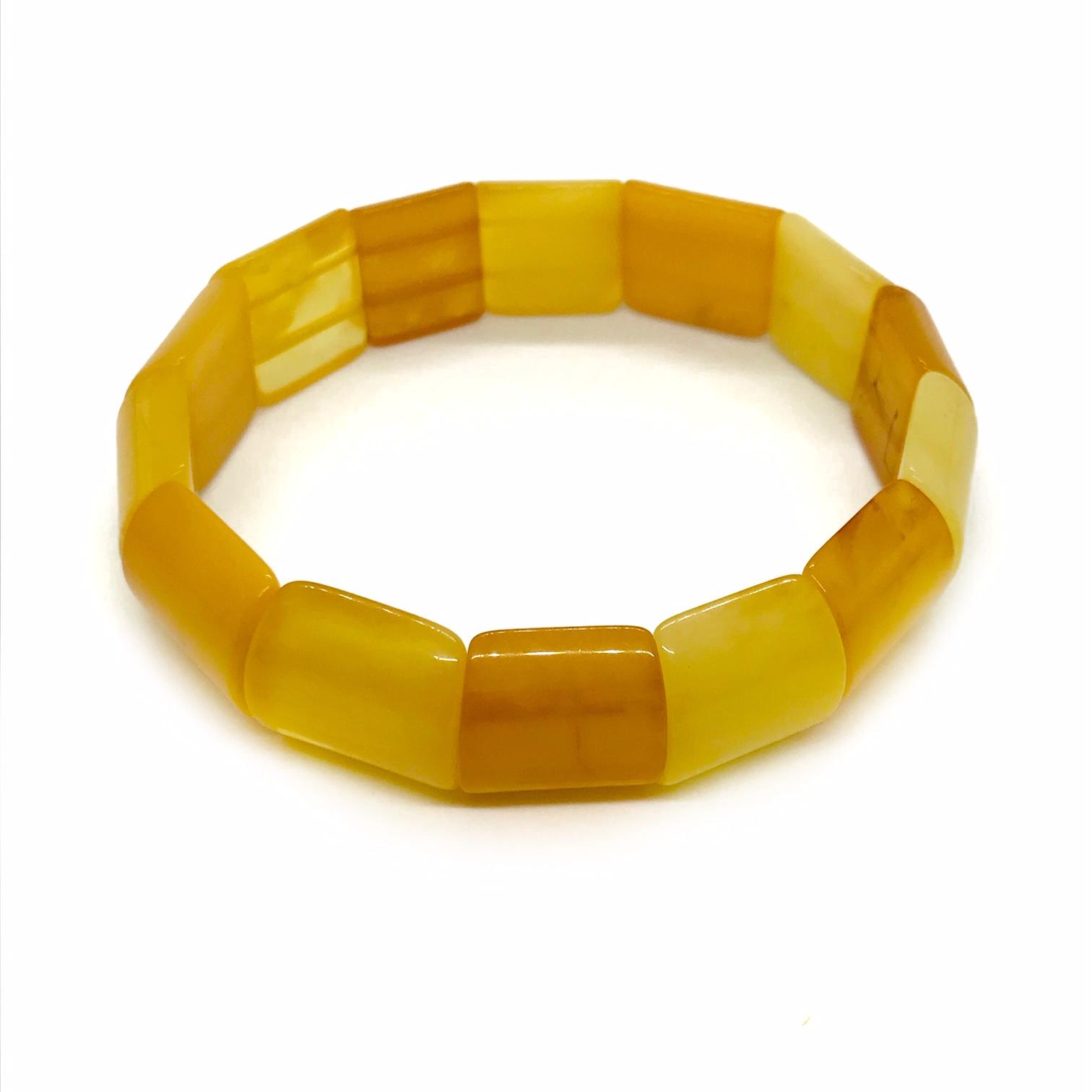 Butterscotch Amber Stretch Bracelet