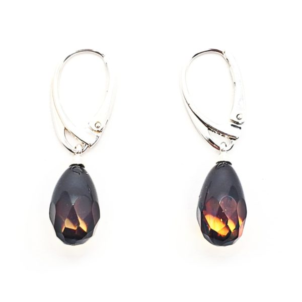 Ombre Faceted Drop Amber Earrings