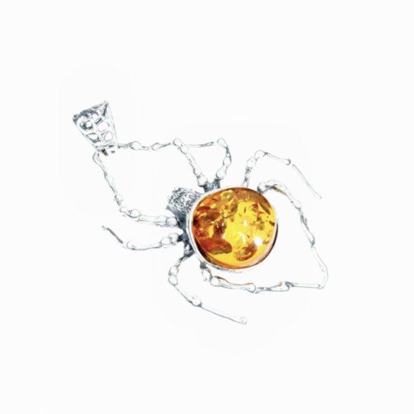 Cognac Amber Large Spider Pendant