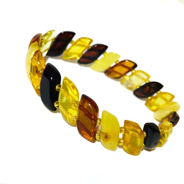 Multi Color Amber Stretch Bracelet
