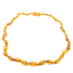 Baltic Amber Light Cognac Baby/Teething Necklace