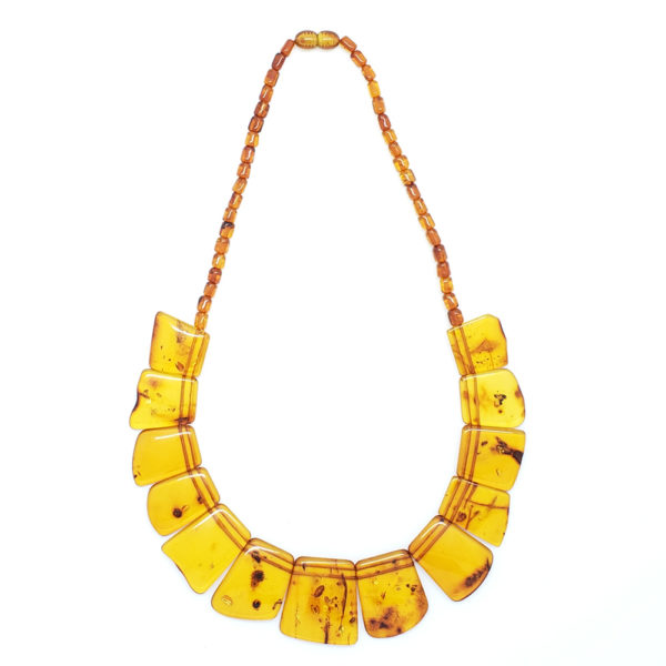 Cognac Amber Cleopatra Style Necklace