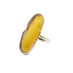 Butterscotch Amber Sterling Silver Handmade Ring
