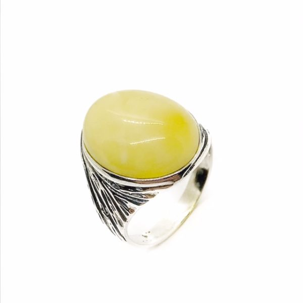 Butterscotch Amber Sterling Silver Ring