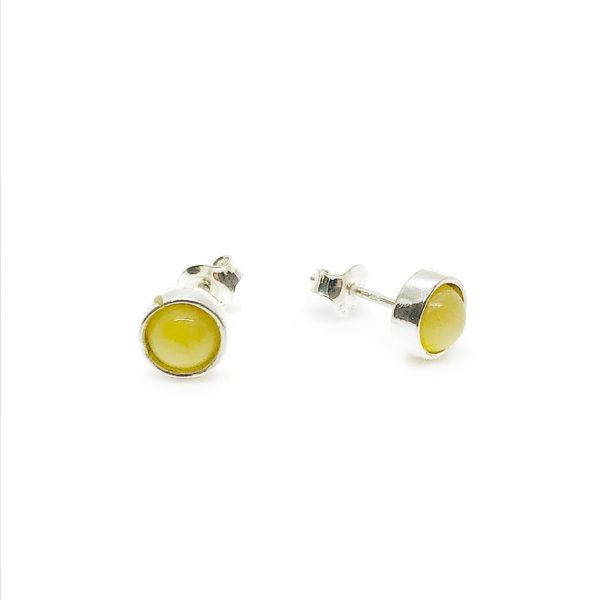 Butterscotch Amber Sterling Silver Stud Earrings