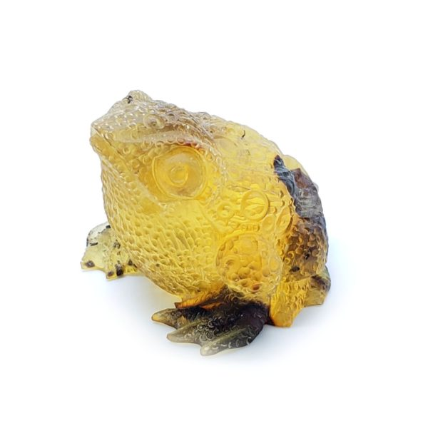 Natural Amber Carved Frog