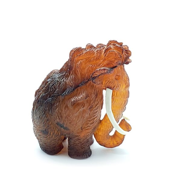 Cherry Amber Carved Mammoth