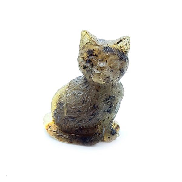 Natural Amber Carved Cat