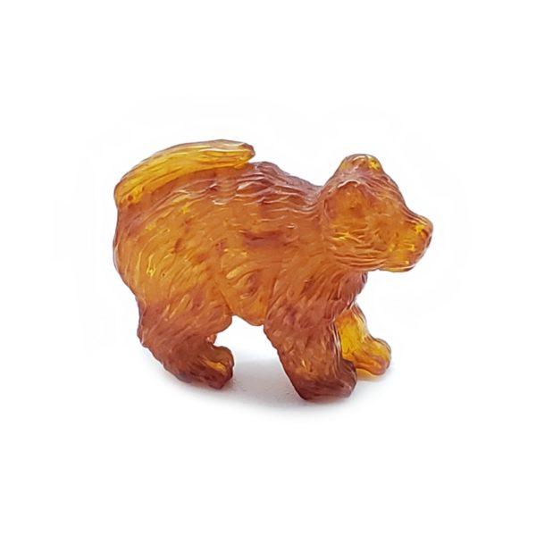Cognac Amber Carved Dog