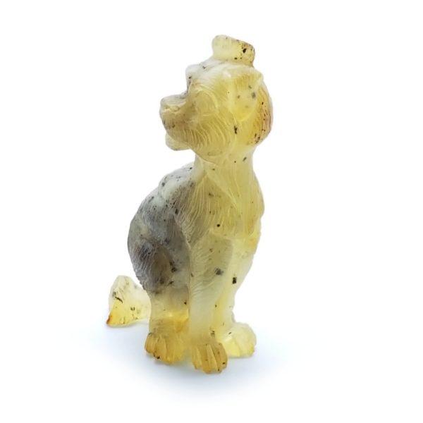 Natural Amber Dog Statue