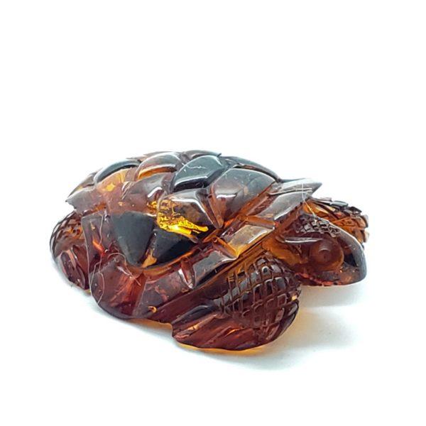 Cognac Amber Carved Turtle