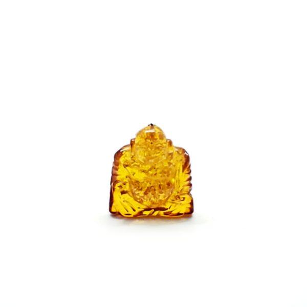 Cognac Amber Carved Buddha