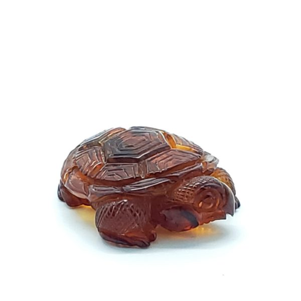 Cognac Amber Carved Turtle