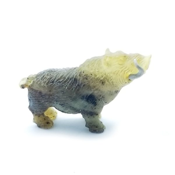 Natural Amber Carved Boar