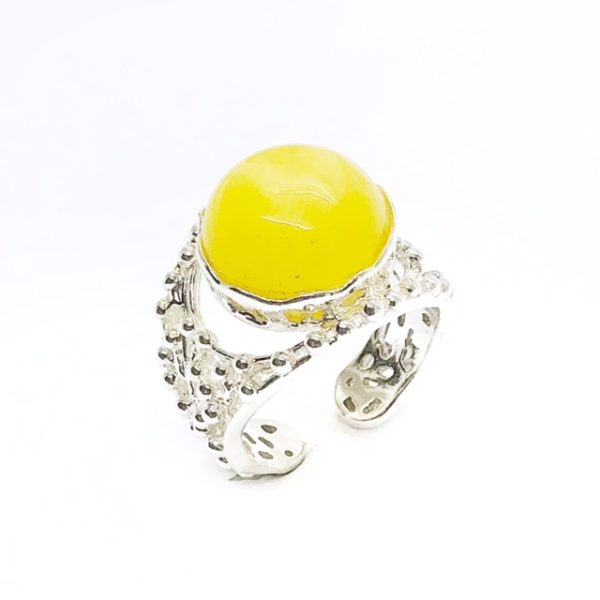 Butterscotch Amber Adjustable Ring