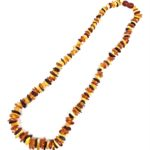 """Multi Color Amber Bead Necklace 22"""""""