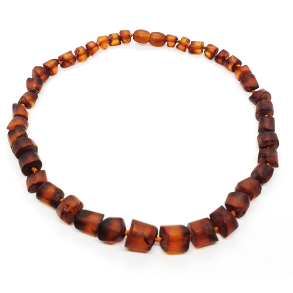 Cognac Matte Finish Amber Baby/Teething Necklace