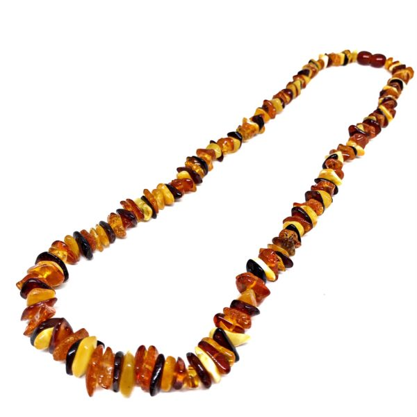 Multi Color Amber Bead Necklace 18""