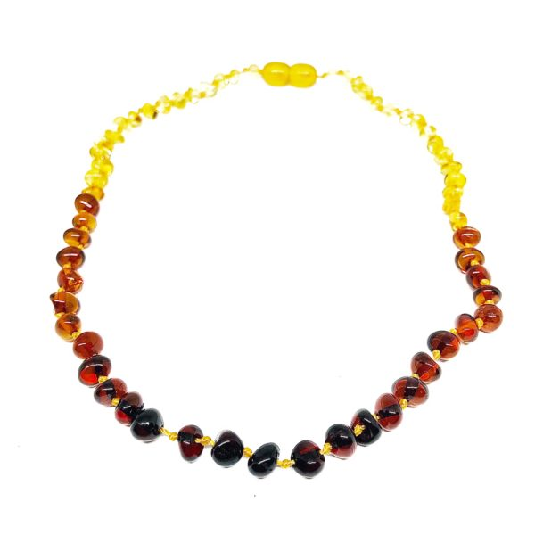 Multi Color Baltic Amber Baby/Teething Necklace