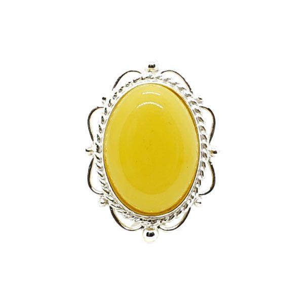 Butterscotch Amber Sterling Silver Pin/Brooch