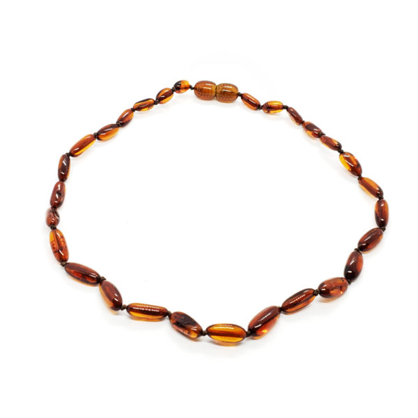 Cognac Baltic Amber Baby/Teething Necklace