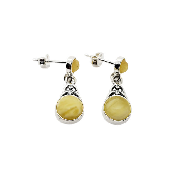 Butterscotch Amber Post Dangle Earrings