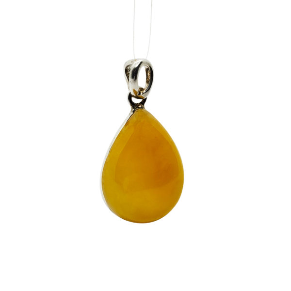 Butterscotch Amber Sterling Silver Pendant