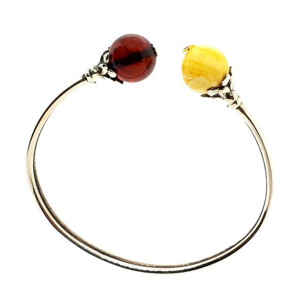 Butterscotch / Cherry Amber Sterling Silver Bracelet