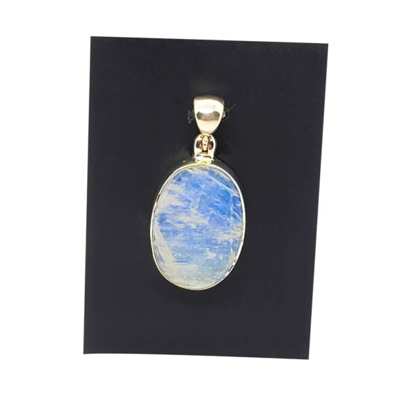 Rainbow Moonstone / Sterling Silver Pendant