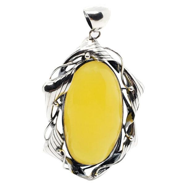 Butterscotch Amber Sterling Silver Pendant