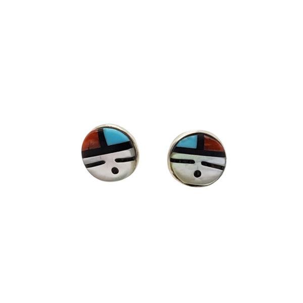 Zuni Inlay Stud Earrings