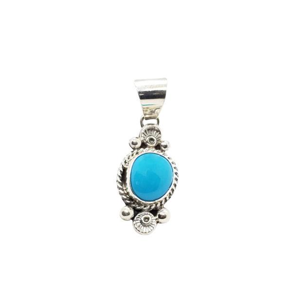 Sleeping Beauty Turquoise / Silver Pendant