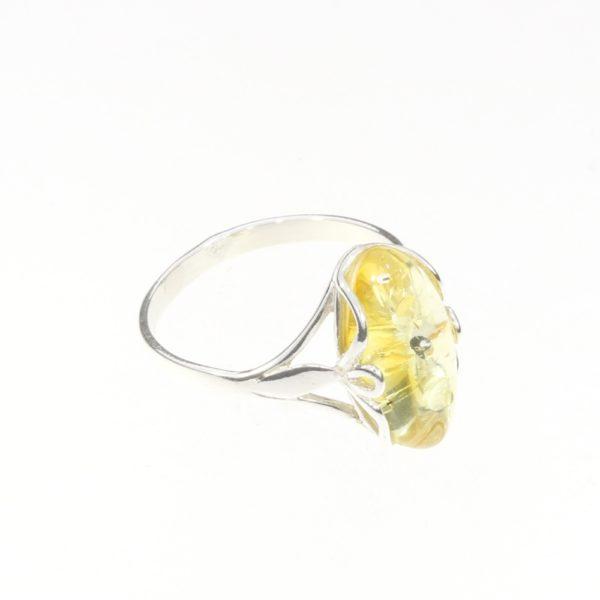 Citrine Amber Sterling Silver Ring